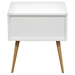 Tangent Accent Table - 2 Drawers, White, Orange, Oak - DS-TANGENTETWHOR