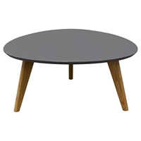 Trio Cocktail Table - Gray Top, Oak Legs
