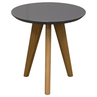 Trio End Table - Gray Top, Oak Legs