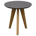 Trio End Table - Gray Top, Oak Legs - DS-TRIOETGR