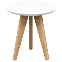 Trio End Table - White, Oak