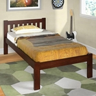 Finnegan Mission Twin Size Bed - Slats, Dark Cappuccino