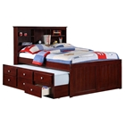 Glasgow Full Bookcase Trundle Bed - Drawers, Dark Cappuccino