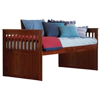 Heathcliff Twin Size Rake Bed - Merlot Finish