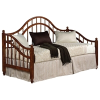 Arabesque Camelback Wood Daybed - Spindles, Espresso