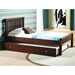 Embry Contemporary Bed - Slatted Headboard, Dark Cappuccino - DONC-500-CP