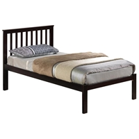 Bertram Platform Bed - Vertical Slats, Dark Espresso