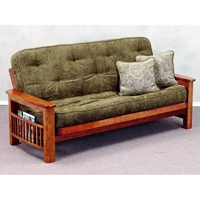 Landmark Wood Futon Frame - Magazine Rack, Dark Cherry