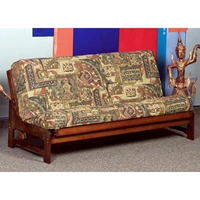 Monet Full Size Wood Futon Frame - Armless, Dark Cherry