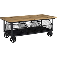Fairground Rectangular Coffee Table - Brown, Black