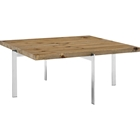 Diverge Square Coffee Table - Brown