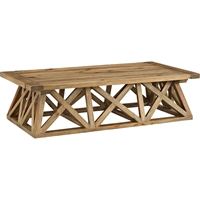 Camp Rectangular Wood Coffee Table - Brown