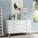 Tracy 3 Drawers Dresser - White - EEI-5241-WHI