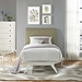 Tracy Twin Platform Bed - White Frame - EEI-5764-WHI-BED