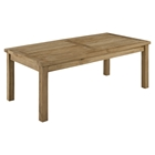 Marina Outdoor Patio Coffee Table - Rectangle, Natural