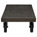 Garrison Wood Top Coffee Table - Rectangle, Casters, Black - EEI-1206-BLK