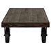 Garrison Wood Top Coffee Table - Rectangle, Casters, Brown - EEI-1206-BRN