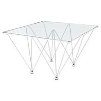 Prism Square Coffee Table - Silver