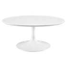"Lippa 40"" Wood Top Coffee Table - White"
