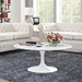 "Lippa 40"" Artificial Marble Coffee Table - White - EEI-1651-WHI"