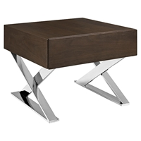 Sector Nightstand - Brown, 1 Drawer