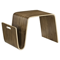 Polaris Wood Coffee Table - Magazine Racks, Walnut