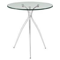 Moxy Side Table - Glass Top, Clear