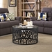 Shadow Side Table - Glass Top, Black - EEI-2105-BLK