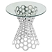 Arrange Side Table - Glass Top, Silver - EEI-2106-SLV