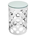 Etch Stainless Steel Side Table - EEI-2107-SLV