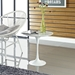 "Lippa 20"" Marble Side Table - White - EEI-280-WHI"