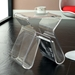 Acrylic Side Table with Magazine Holder - EEI-561