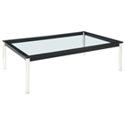 LC10 Rectangle Glass Top Coffee Table
