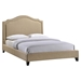 Charlotte Nailhead Queen Bed - Beige - EEI-5045-BEI-SET