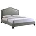 Charlotte Nailhead Queen Bed - Gray - EEI-5045-GRY-SET