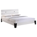 Zoe Queen Faux Leather Bed - White - EEI-MOD-5128-WHI