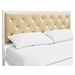 Mia Tufted Faux Leather Bed - White Champagne - EEI-518-WHI-CHA-SET