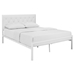 Mia Tufted Faux Leather Bed - White - EEI-518-WHI-WHI-SET