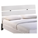 Zoe Full Faux Leather Bed - Platform, White - EEI-5185-WHI