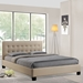 Caitlin Platform Fabric Bed - Button Tufted, Beige - EEI-5-BEI-SET