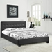 Caitlin Faux Leather Bed - Button Tufted, Black - EEI-519-BLK-SET
