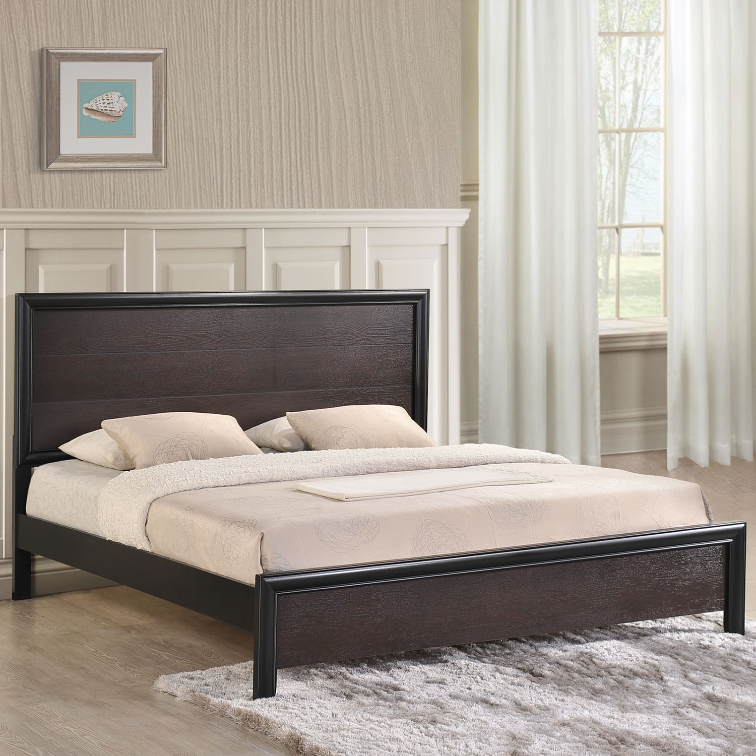 Madison King Walnut Bed - EEI-MOD-5219-WAL-SET