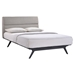 Addison Platform Bed - Black, Gray - EEI-5-BLK-GRY