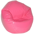 Magenta Vinyl Bean Bag Chair for Kids
