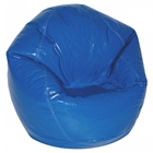 Nautical Blue Vinyl Kids Bean Bag Chair
