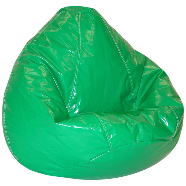 Wetlook Green Vinyl Bean Bag for Kids