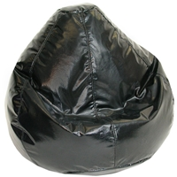 Wetlook Black Vinyl Bean Bag for Kids