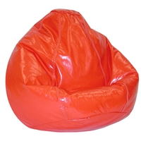 Wetlook Red Vinyl Bean Bag for Kids