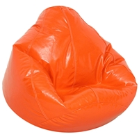 Wetlook Blaze Orange Vinyl Bean Bag for Kids
