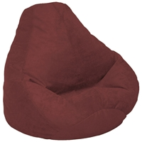 Velvet Luxe Extra Large Berry Bean Bag